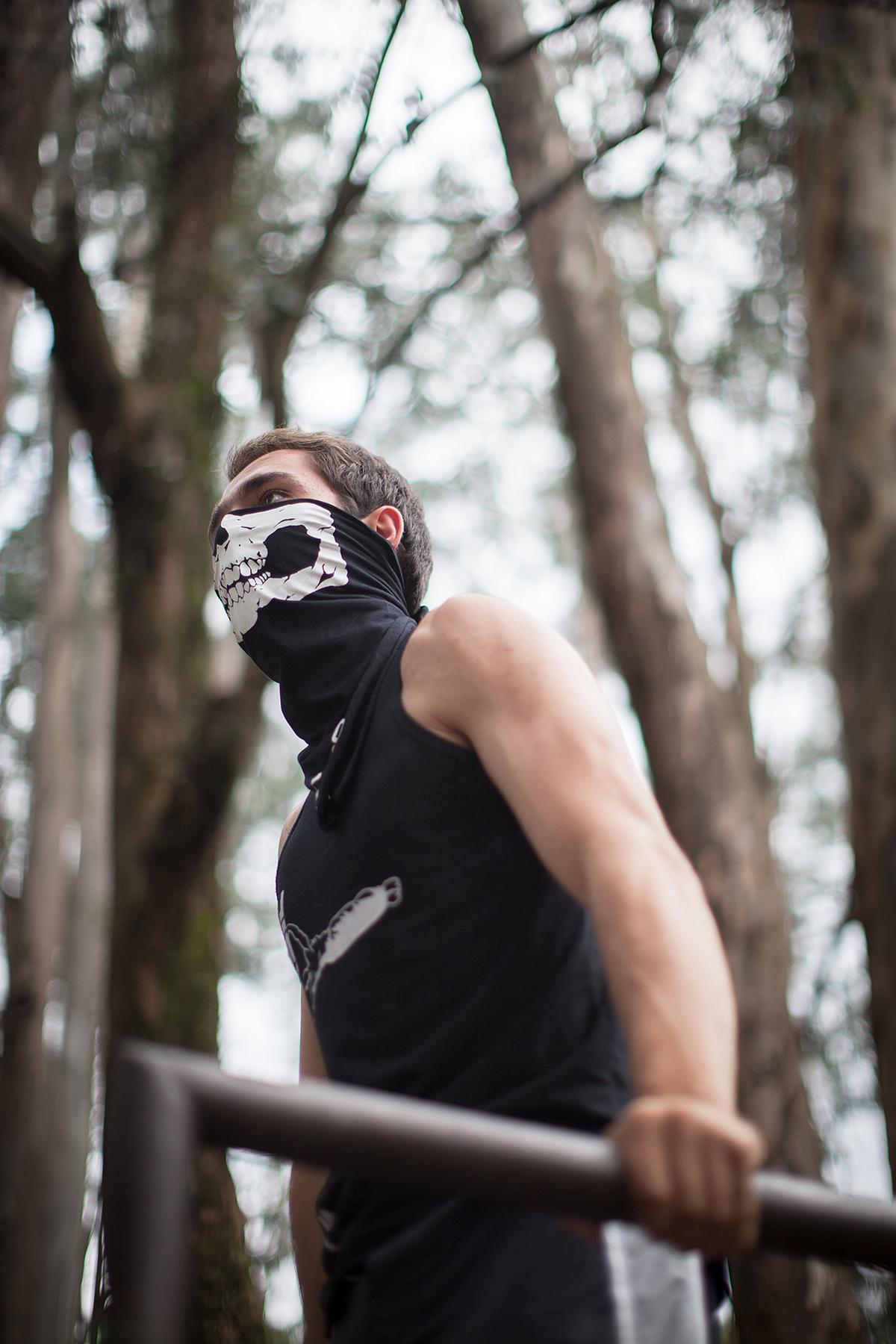 Fotos feitas no Ibirapuera, em São Paulo, com membros do grupo Calistenia Brasil