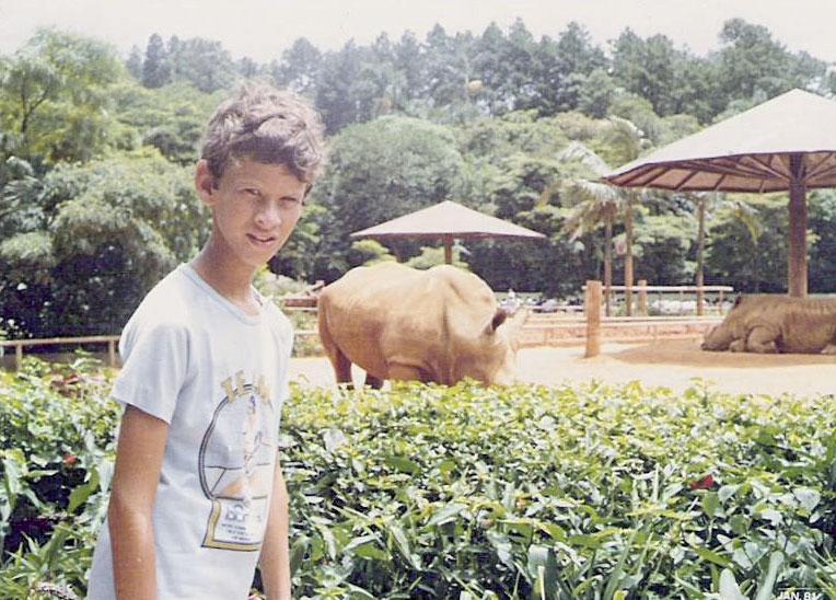 No zoológico, aos 11 anos