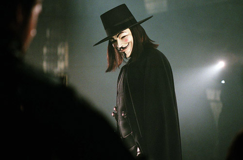 Guy Fawkes no cinema, no filme de 2005
