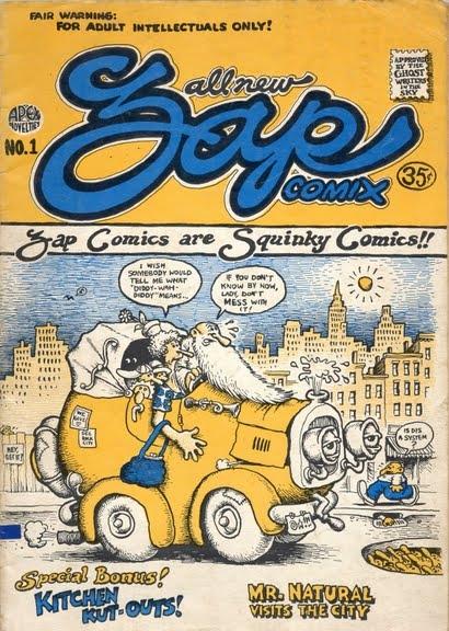 Capa da revista Zap Comix nº1