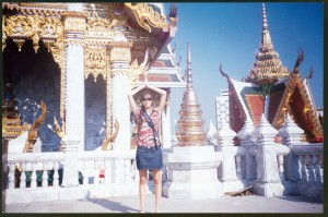 A paz em um templo de Bangcoc