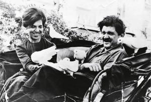 Os pais, em viagem a Barcelona, nos anos 60
