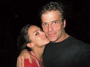 Gabriela com o marido, Jairo:
