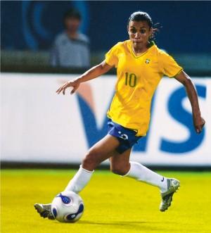 A meio-atacante na Copa do Mundo feminina em 2007