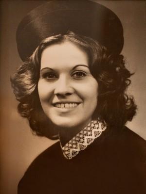 Berenice no dia da sua formatura em direito, em 1971