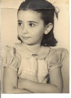 A carioca Julita, aos 5 anos de idade