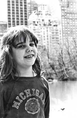 Em 1983, aos 7 anos, posando no Central Park