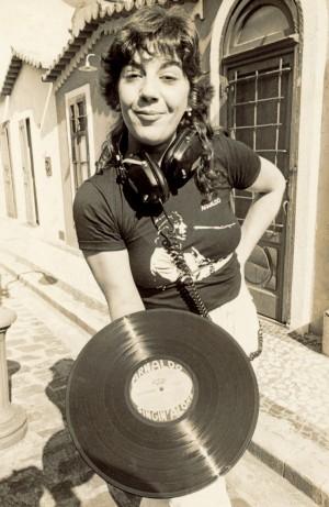 Na rua Augusta (SP), lançamento do disco do amigo Arnaldo Baptista, em 1983