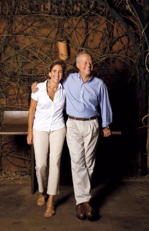 Ao lado  do marido, Fabio, em 2008