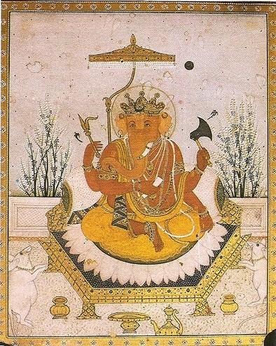 Ganesh, o mais popular dos deuses hindus, famoso por remover obstáculos.