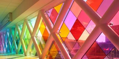 Escala (de cores) no Aeroporto de Miami