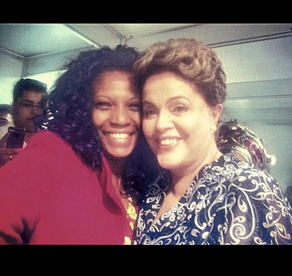 Com a presidente Dilma