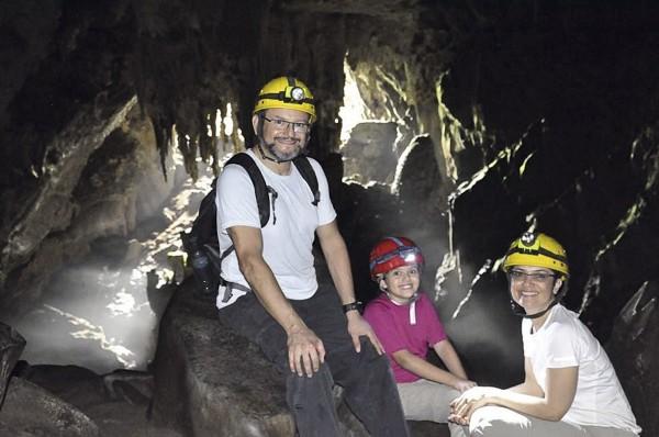 Expedição em família às cavernas do Petar