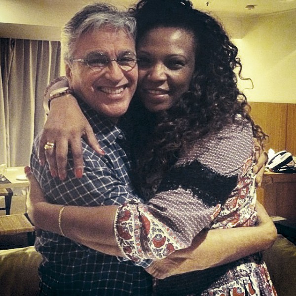 Com o ídolo, Caetano Veloso