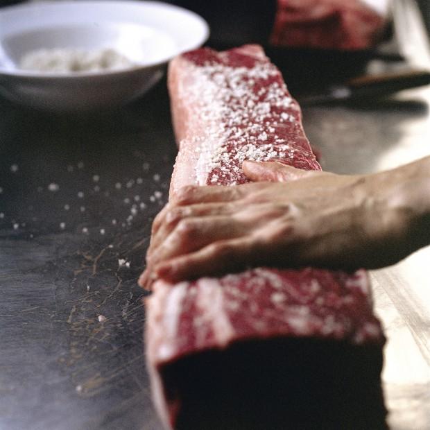 A carne servida no Arturito
