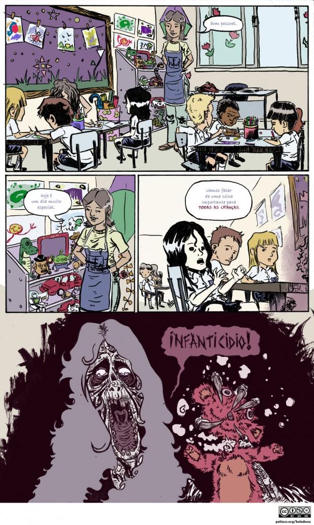 Ela faz quadrinhos de  terror