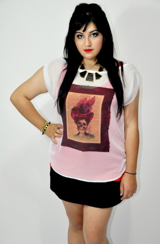 Blusa Branca Chiffon Madame - R$ 69,00
