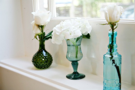 Garrafas de licor, taças ou vidros de perfume