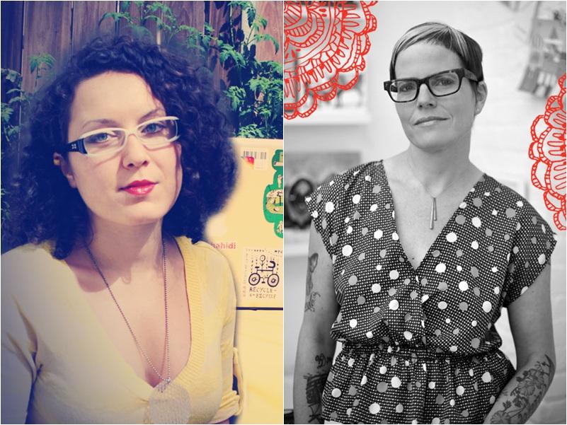 A escritora búlgara Maria Popova e a ilustradora estadunidense Lisa Congdon