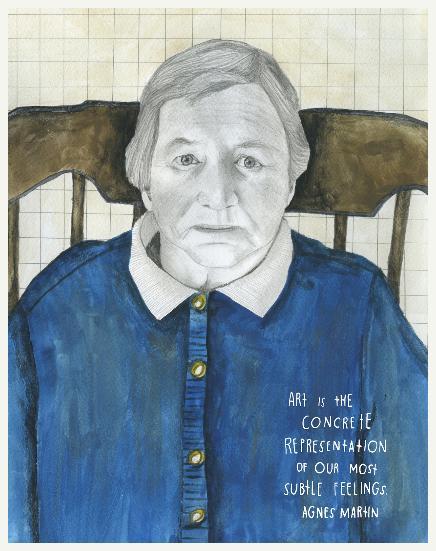 Agnes Martin. Pintora canadense radicada nos Estados Unidos