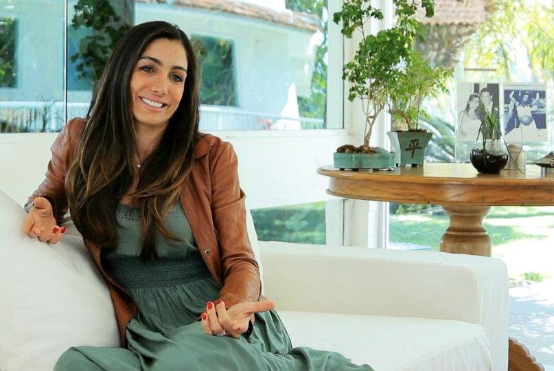 Andréa Santa Rosa, esposa de Márcio Garcia, e uma das personagens do doc