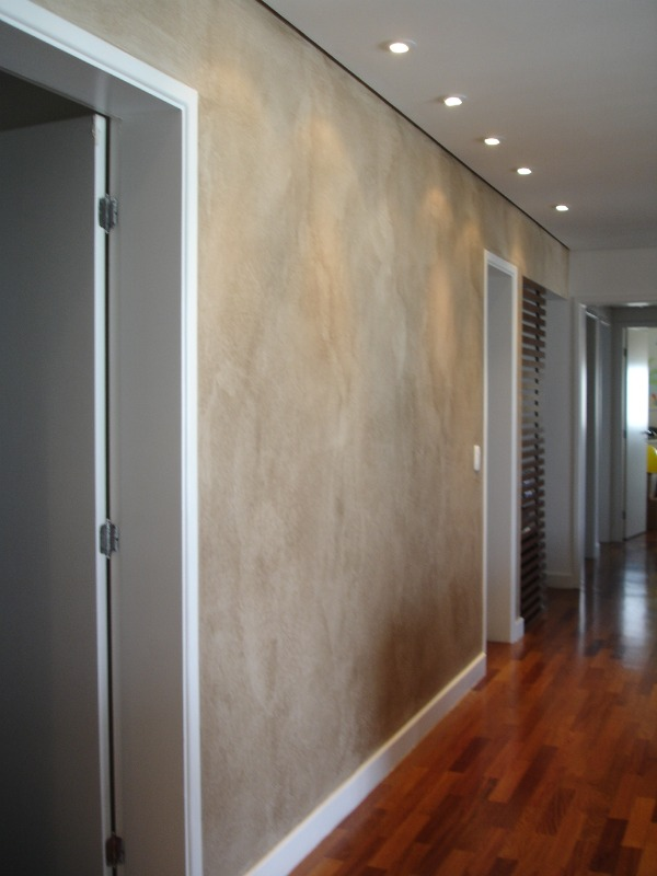 Sala com textura Terracal da Terracor l Projeto NeoArq