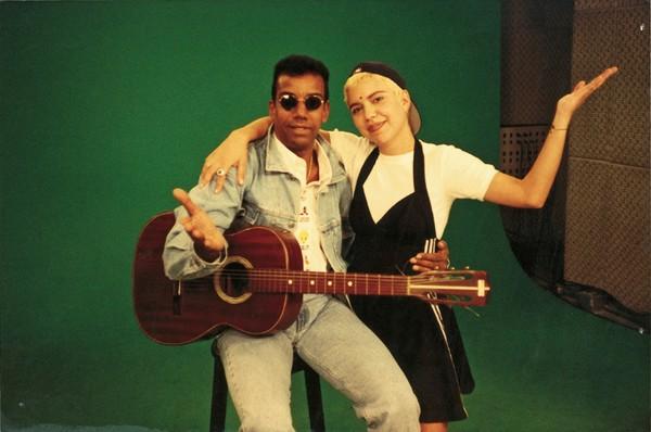 Nos tempos de MTV com Jorge Ben, no Disk