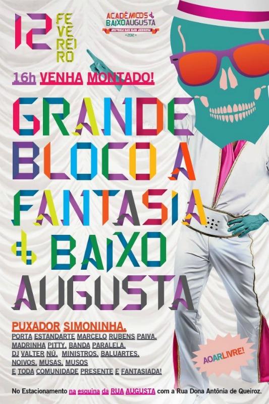 Poster do bloco Acadêmicos do Baixo Augusta