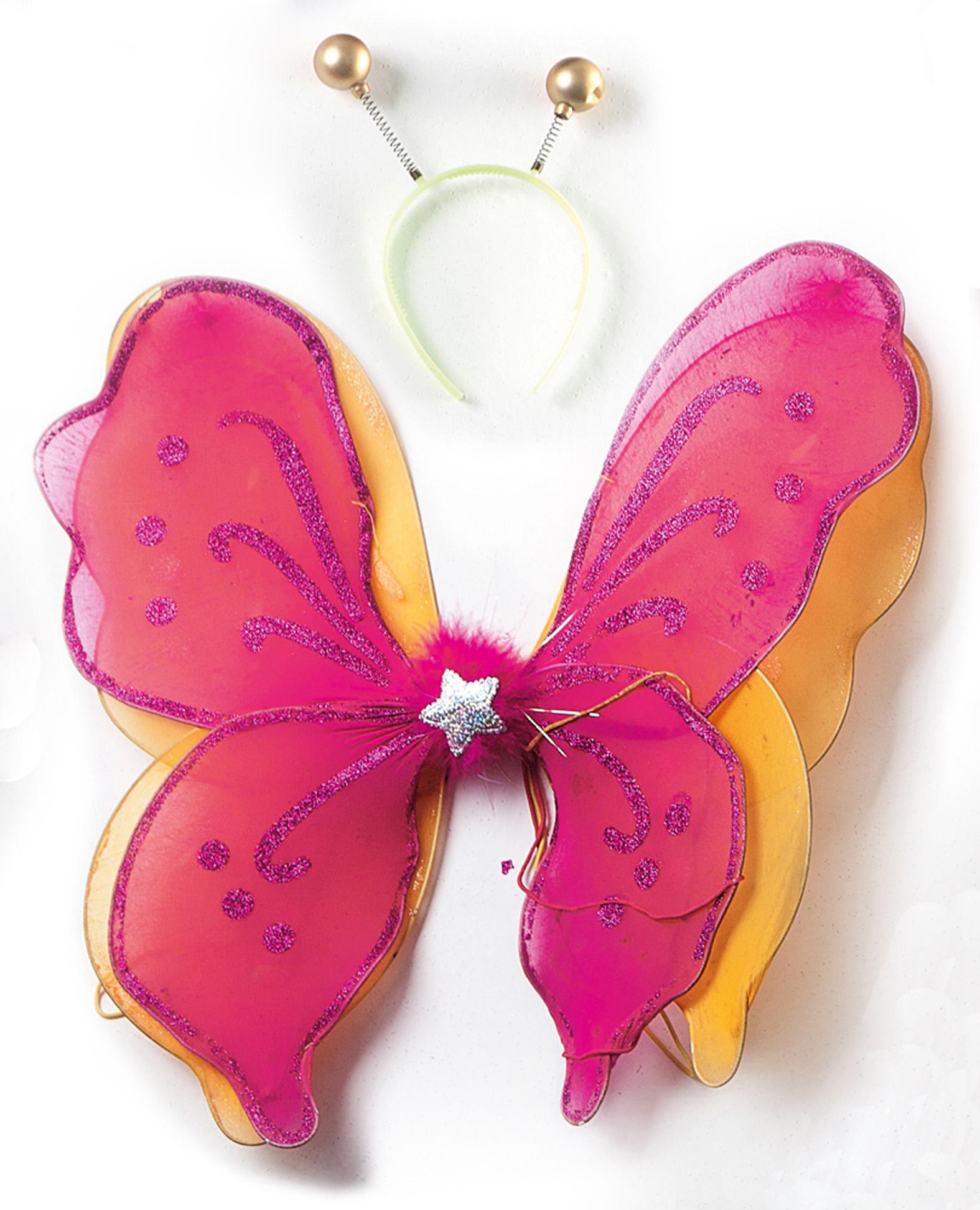 """Asas de borboleta e antenas: """"Usei em 2007."""""""