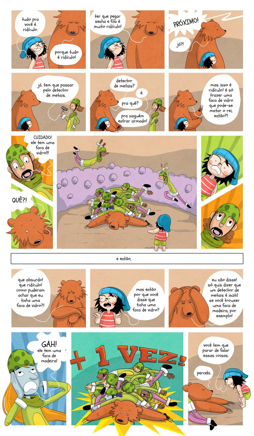 Bear, Bianca Pinheiro - Bear está entre as melhores webcomics nacionais atualmente. Todas as razões você descobre na entrevista que ela deu aqui pro site (link para https://revistatrip.uol.com.br/notas/bianca-pinheiro.html)