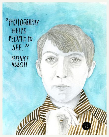Berenice Abbott. Fotógrafa estadunidense célebre por fotografar a cidade de Nova Iorque