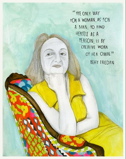 Betty Friedan. Foi uma importante ativista feminista estadunidense do século 20. Participou também de movimentos marxistas e judaicos