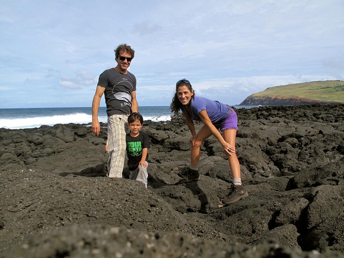 Burle, Reno Kai e eu! Família feliz!