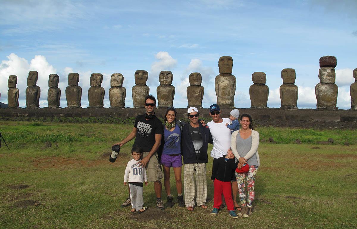 Aloha! Nossa turminha nos 15 Moais...