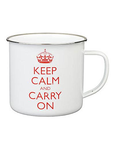 Caneca Keep Calm and Carry On - Na The Berry Tea