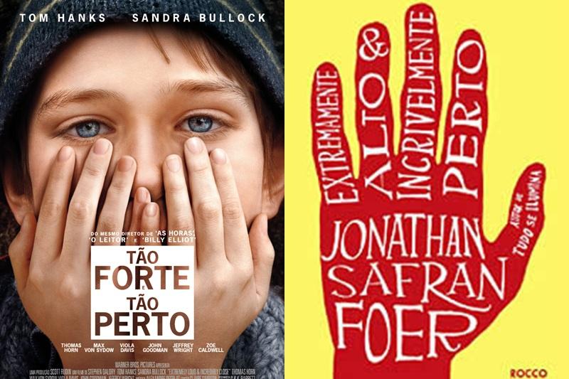 Capa do filme e capa do livro
