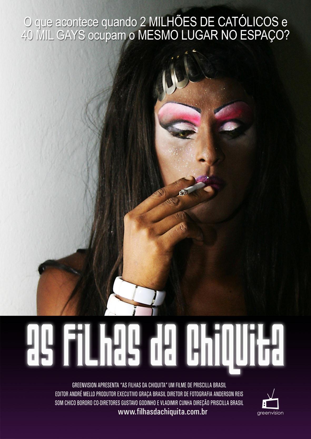 Poster de divulgação do documentário sobre a festa Filhas de Chiquita
