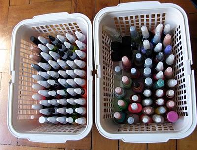 Cestinhas, daquelas usadas na lavanderia