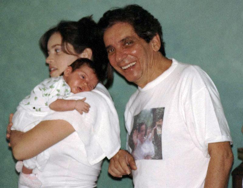 Com o pai, Domingos de Oliveira