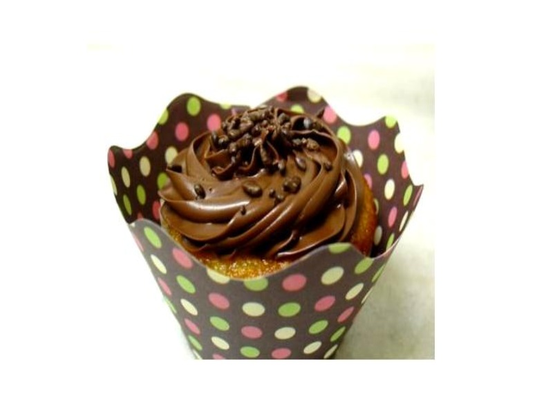 Detalhe do cupcake da Lia Jordão Patisserie