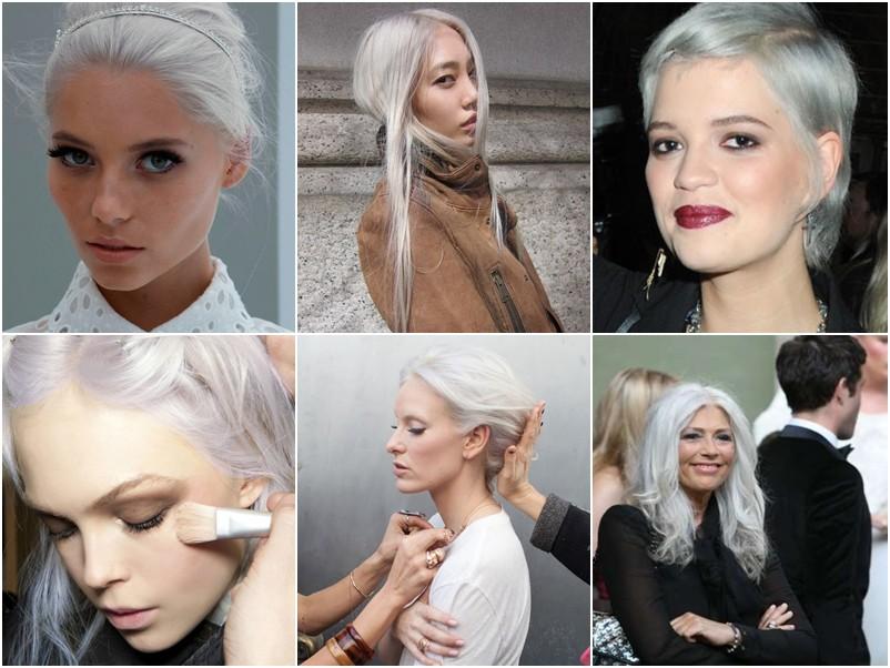 Deixar os cabelos brancos pode ser escolha também antes do tempo