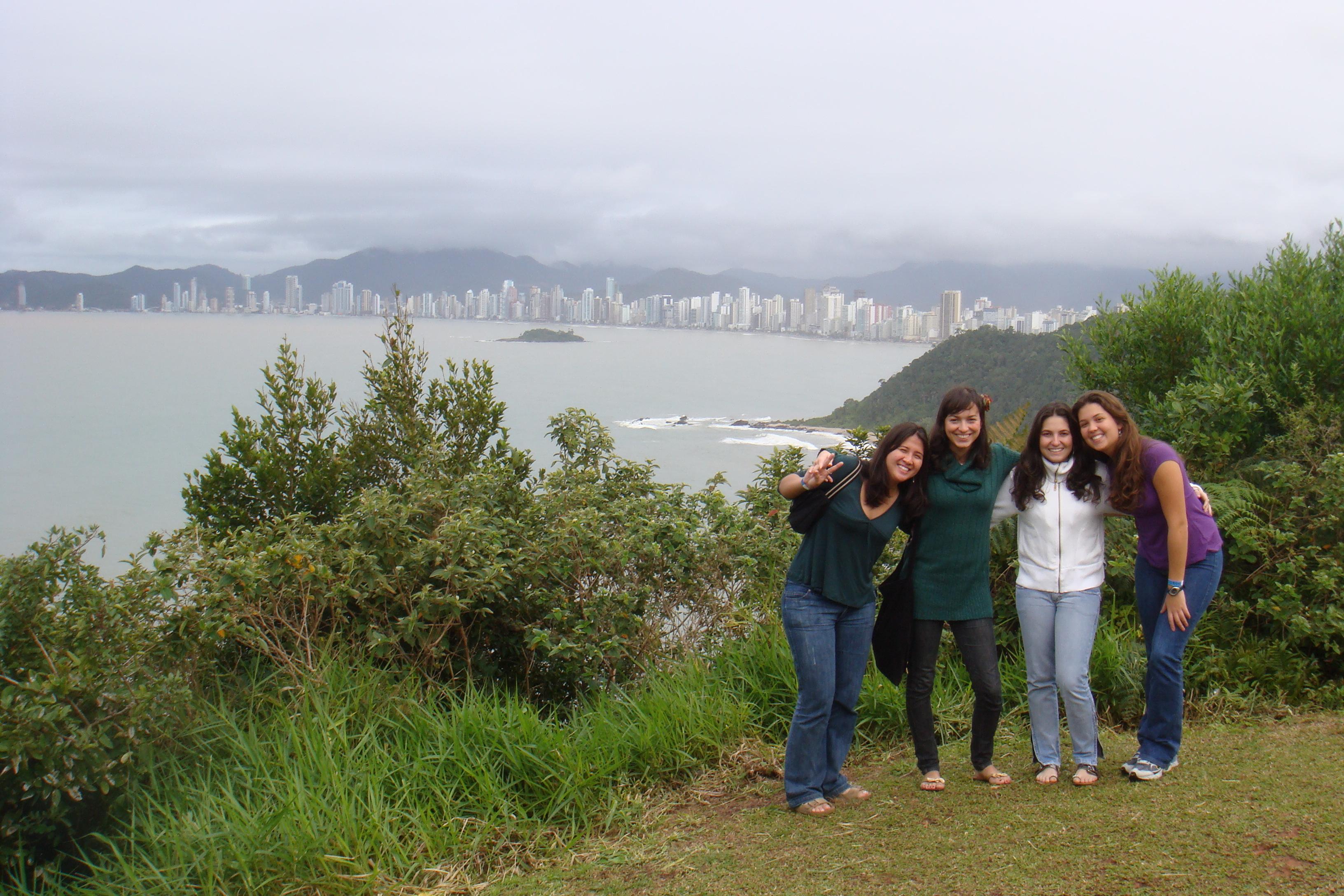 Vista de Balneário a partir do Morro do Careca
