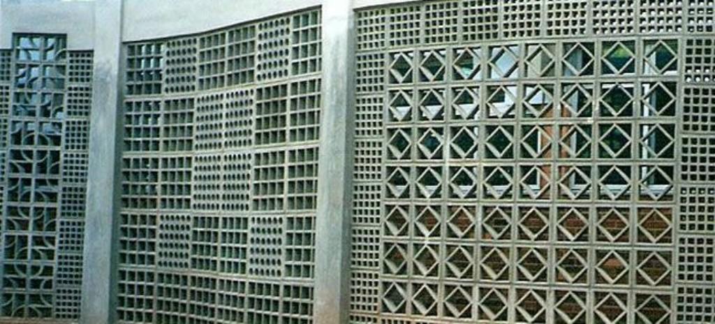 Em concreto amostra de painéis com paginações variadas (Legran - www.legran.com.br)