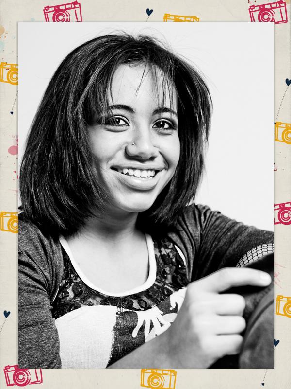 """Bruna Vicente, 15 anos. Seu sonho :: """"Trabalhar numa loja de roupas. Também queria ser modelo"""""""