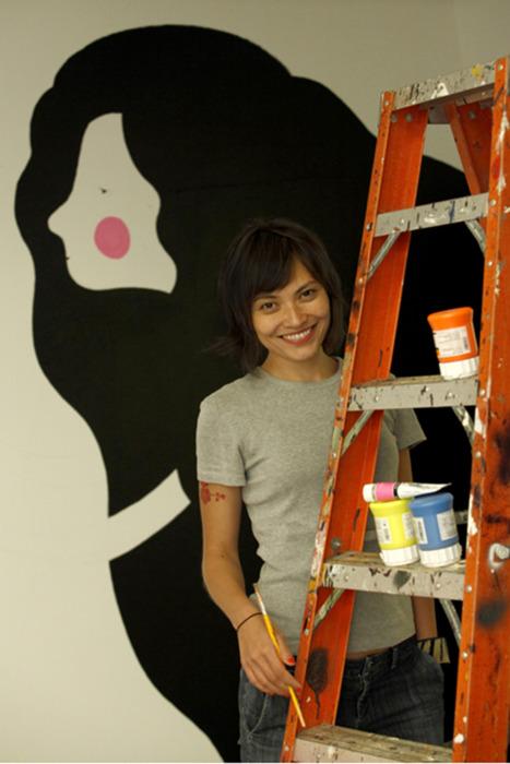 A artista plástica Erica Mizutani