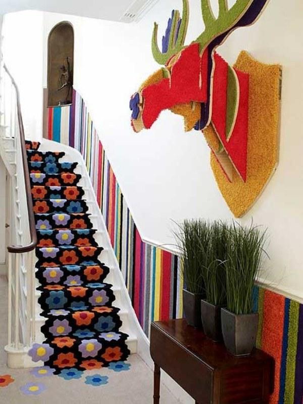 Mais uma sugestão usando tapete. Adoro esse!