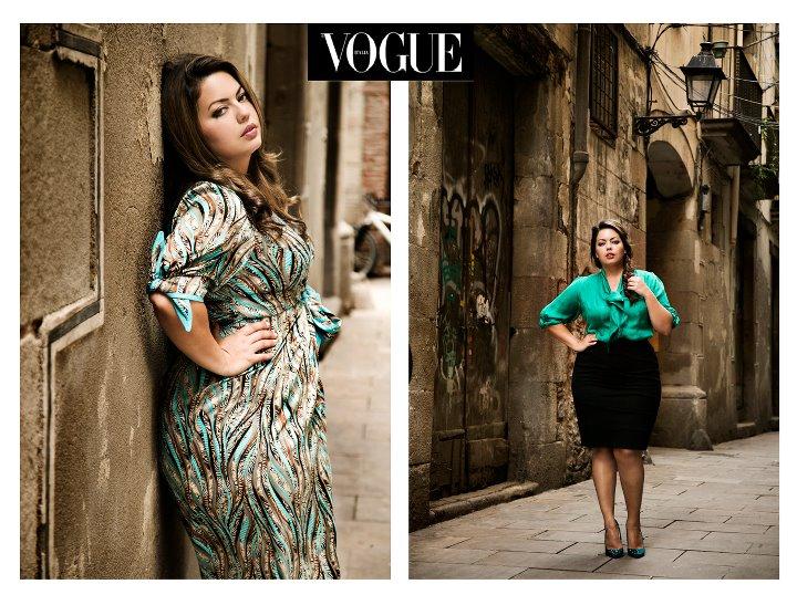 Em editorial para a Vogue Curvy