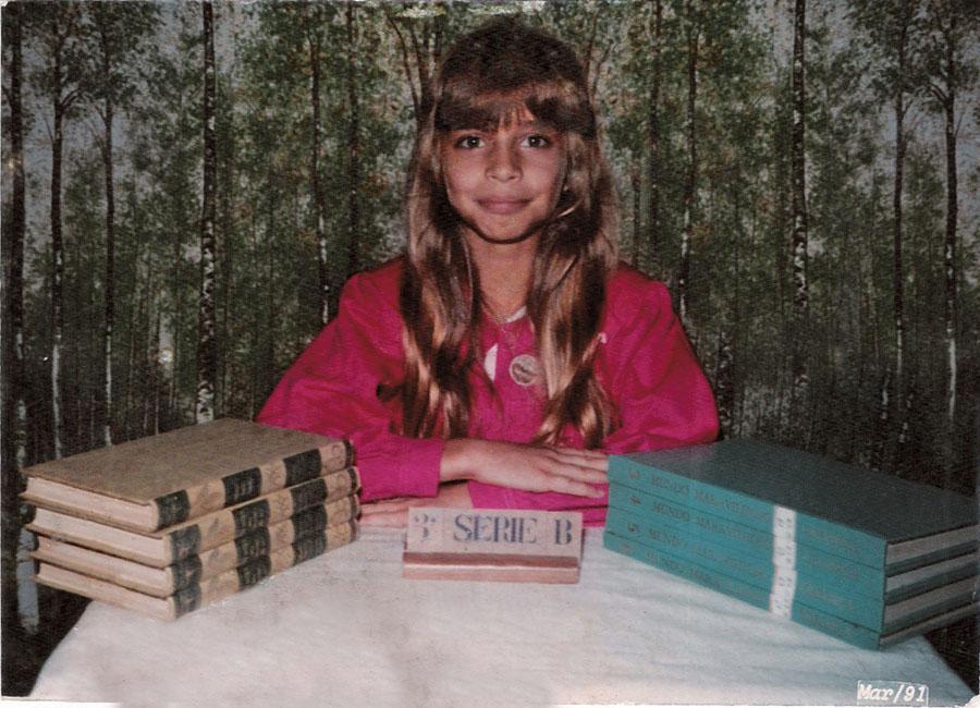 Na clássica foto escolar, na terceira série, em 1991
