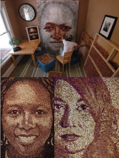 Arte - E as rolhas? O artista Scott Gundersen usa milhares delas em suas obras. E o resultado é essa coisa linda que você vê aí na imagem