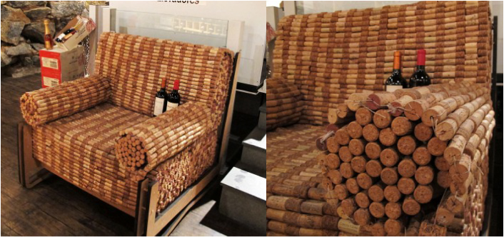 Essa poltrona de rolhas eu vi exposta na Expand Wine Store, em São Paulo. Um projeto desse deve demorar uma eternidade, mas eu quis mostrar aqui porque adorei a ideia